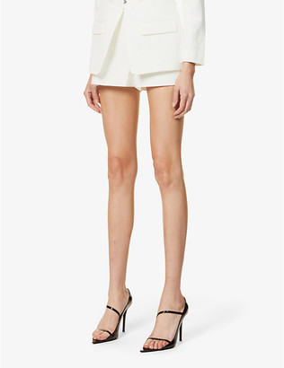 Lavish Alice Mid-rise stretch-crepe shorts