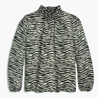 J.Crew Zebra long-sleeve mockneck top