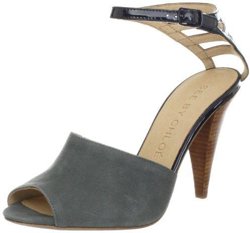 See by Chloe Women's Ankle Strap Peep-Toe Sandal