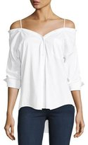 Bailey 44 Stoked Cold-Shoulder Button-Front Shirt, White