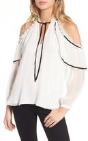 Parker Women's Ventura Cold Shoulder Silk Blouse