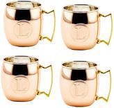 Old Dutch Monogram L 16 oz. Solid Copper Moscow Mule Mugs (Set of 4)