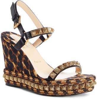 Christian Louboutin Pira Studded Wedge Sandal