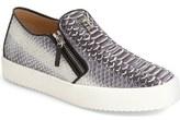 Giuseppe Zanotti Embossed Side Zip Sneaker (Men)