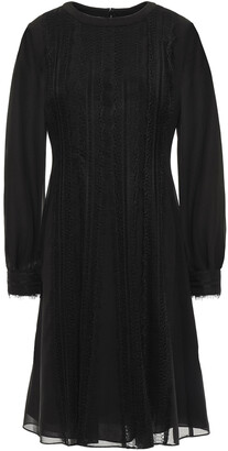 Mikael Aghal Lace-trimmed Chiffon Dress
