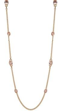 Ralph Lauren Gold-Tone Stone Strand Necklace, 42