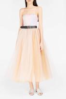 Natasha Zinko Brocade Tulle Strapless Gown