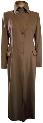 Patrizia Pepe Camel Cotton Coat for Women