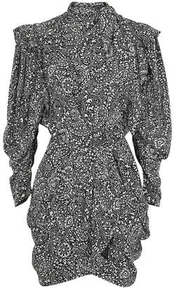 Isabel Marant Bruna printed silk mini dress