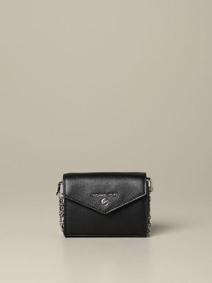 MICHAEL Michael Kors Wallet Credit Card Holder In Leather With Shoulder Strap