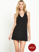 GUESS Mariana Dress With Attached Necklace - Black