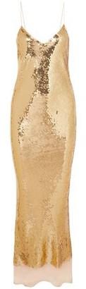 Stella McCartney Bernice Open-back Sequined Silk-mousseline Gown