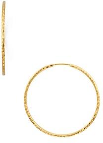 Argentovivo Medium Infinity Hoop Earrings in 18K Gold-Plated Sterling Silver