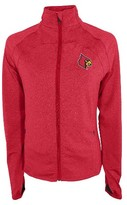 NCAA Louisville Cardinals Women's Synthetic Full Zip Activewear Sweatshirt