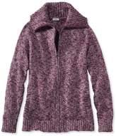 L.L. Bean L.L.Bean Cotton Ragg Sweater, Marled Zip-Front Cardigan