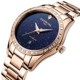 Carnival Women's Automatic Mechanical Female Watch Fashion Creative Sparkling Stars in the Blue Sky
