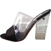 Prada Black Plastic Mules Clogs