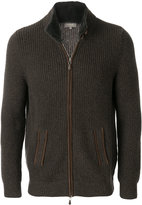N.Peal collar ribbed cashmere cardigan