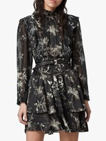 AllSaints Aislyn Evolution Dress, Black