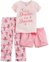 Carter's 3-Pc. Little Dancer Big Dreams Pajama Set, Little Girls (2T-6X) & Big Girls (7-16)