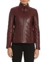 Badgley Mischka Eloise Quilted Leather Jacket