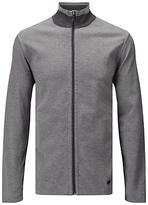 Hugo Boss Boss Green C-fossa Herringbone Reversible Jacket Sweatshirt, Medium Grey