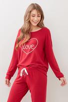 PJ Salvage All Things Love Sweatshirt Red XS