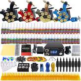 Solong Tattoo® Complete Tattoo Kit 4 Pro Machine Guns 54 Inks Power Supply Foot Pedal Needles Grips Tips TK458