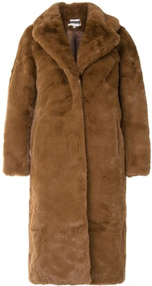 Apparis Siena long faux-fur coat