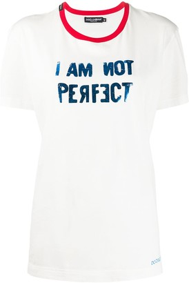 Dolce & Gabbana I Am Not Perfect T-shirt