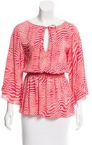 Alice + Olivia Printed Silk Blouse