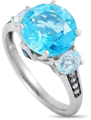 Non Branded 14K 0.11 Ct. Tw. Diamond & Topaz Ring