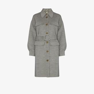 Fendi FF-motif single-breasted coat