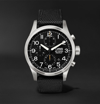 Oris Big Crown ProPilot Automatic Chronograph 44mm Stainless Steel and Nylon Watch, Ref. No. 01 774 7699 4134TS - Men - Black