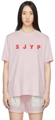 Sjyp Pink Logo T-Shirt