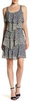 Robbie Bee Printed Tiered Tank Dress