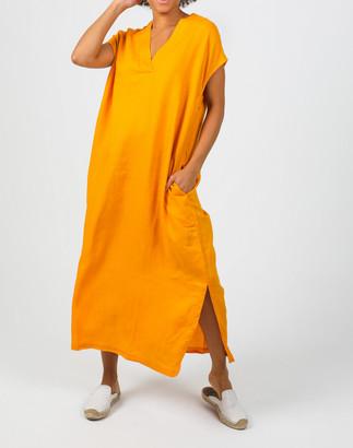 Madewell Lanhtropy Organic Linen Grecia Caftan Dress