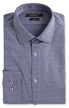 John Varvatos Soho Textured Jersey Slim Fit Dress Shirt