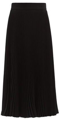 Dolce & Gabbana Pleated-crepe Midi Skirt - Black