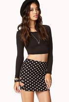 Forever 21 Cutout Polka Dot Bodycon Skirt