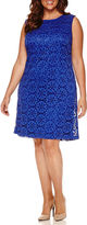 Ronni Nicole Sleeveless Lace Sheath Dress-Plus