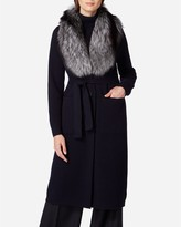 N.Peal Fox Collar Knitted Cashmere Coat