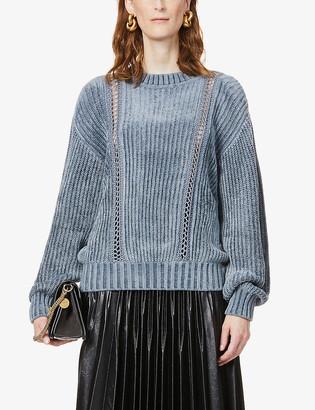 Alberta Ferretti Ladder-stitch knitted jumper