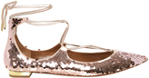 Aquazzura Christy sequinned flats