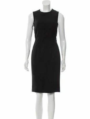 Dolce & Gabbana Lace-Trimmed Sheath Dress w/ Tags Black