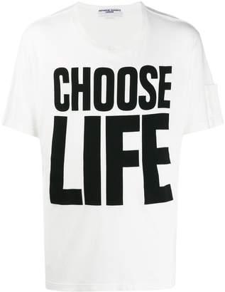 Katharine Hamnett printed 'choose life' T-shirt