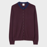 Paul Smith Women's Damson Merino Wool Cardigan With Pearl Buttons
