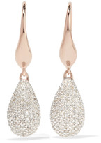 Monica Vinader Stellar Rose Gold Vermeil Diamond Earrings - one size