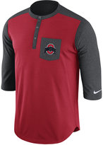 Nike Men's Ohio State Buckeyes Dri-FIT Touch Henley Shirt