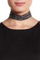 Natasha Accessories Beaded & Chain Row Choker